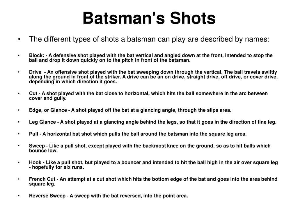 Batsman's Shots