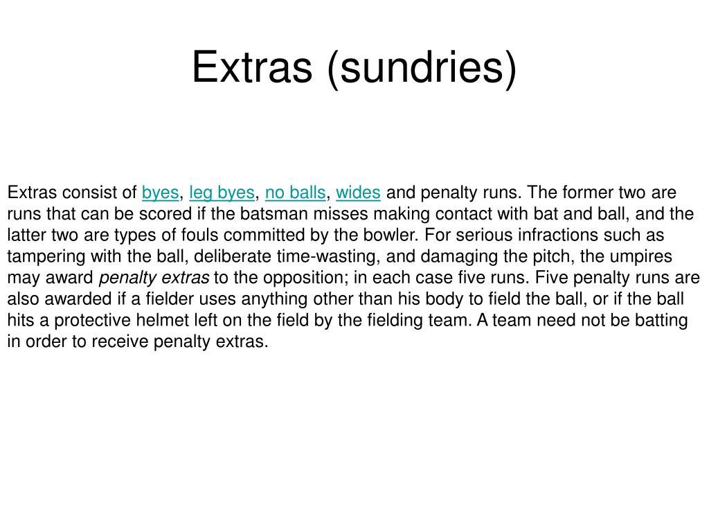Extras (sundries)