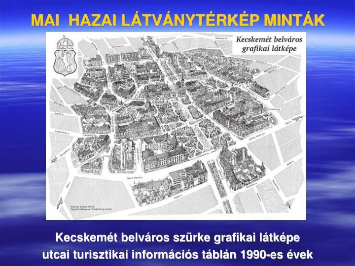 MAI  HAZAI LÁTVÁNYTÉRKÉP MINTÁK