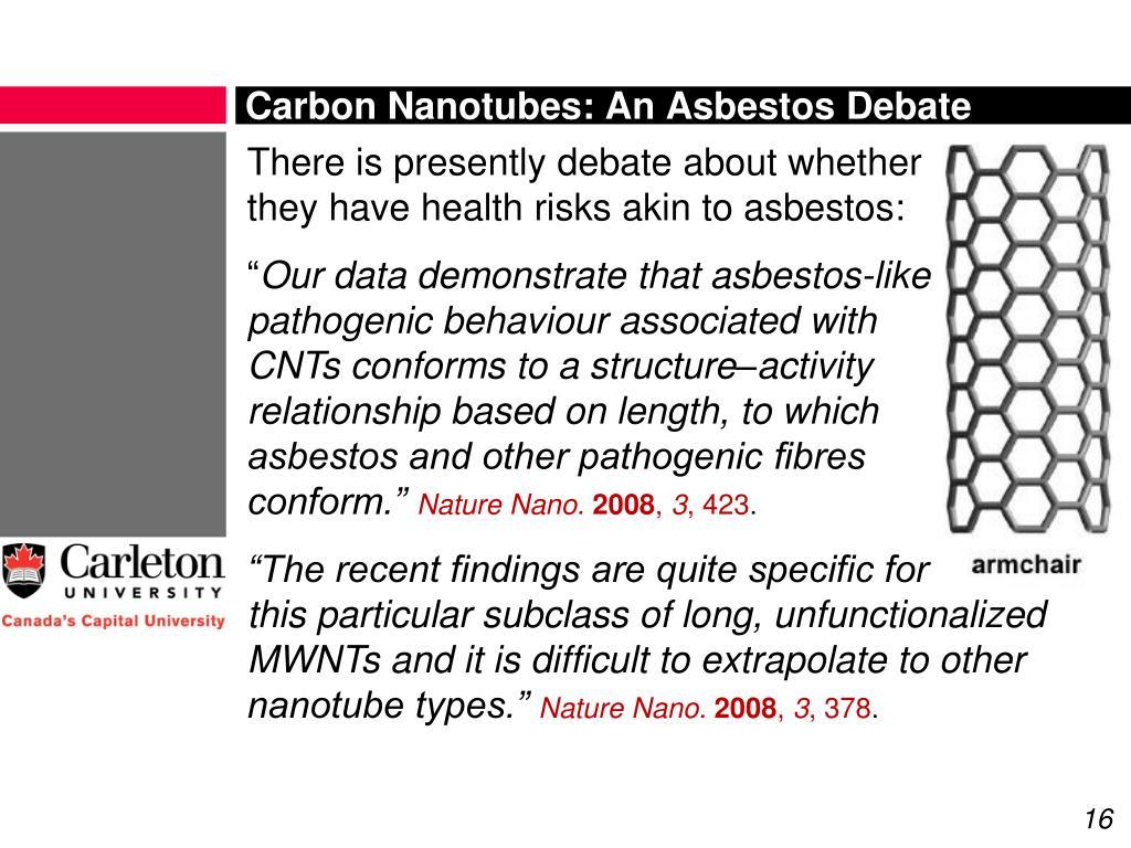 Carbon Nanotubes: An Asbestos Debate