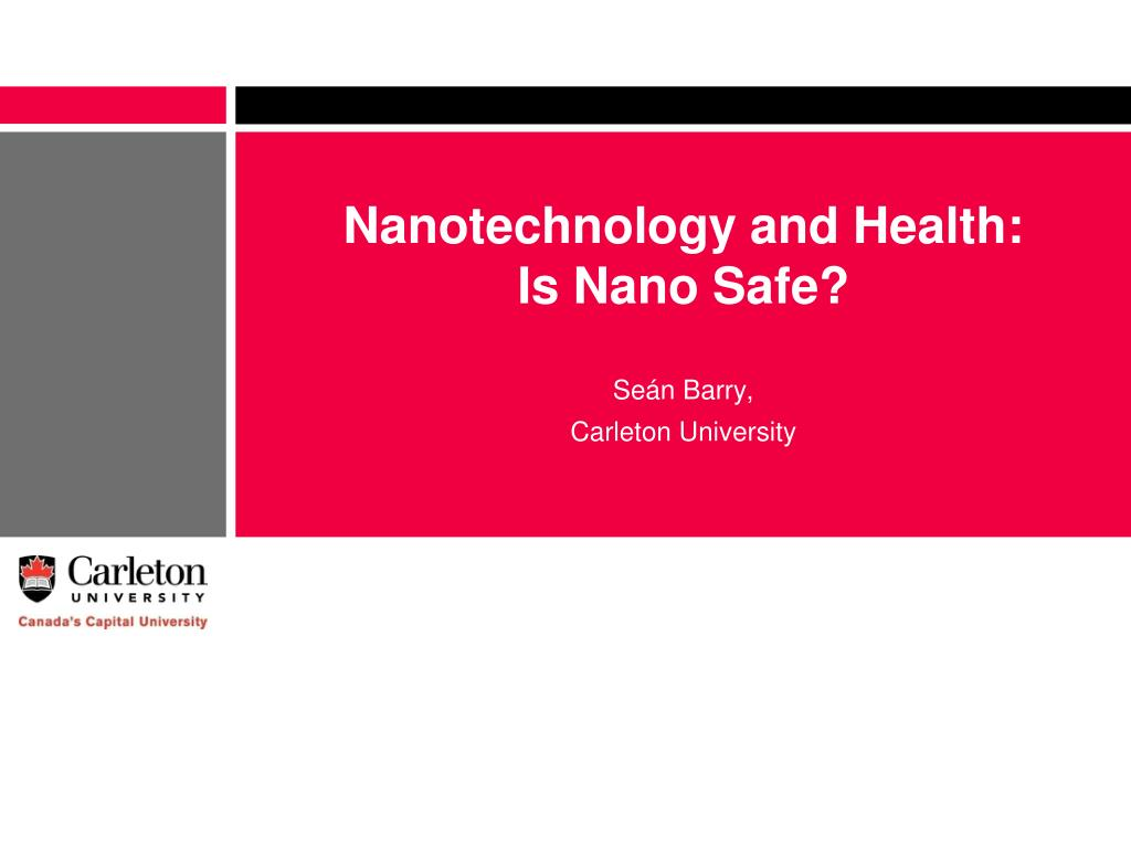 Nanotechnology and Health: