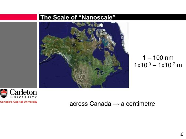 The scale of nanoscale