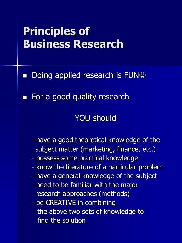 Principles of business research2