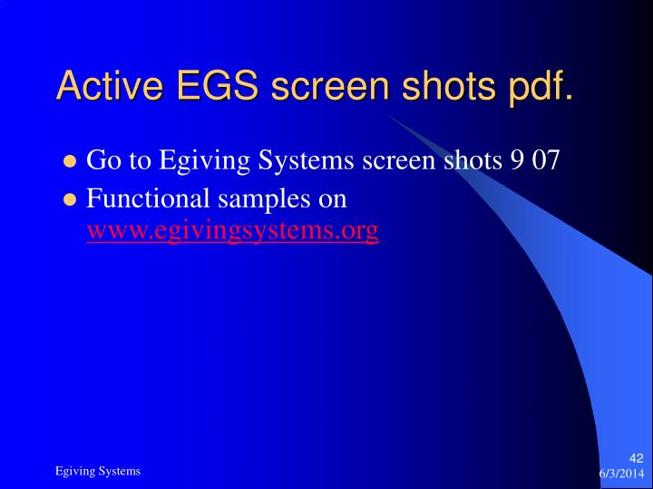 Active EGS screen shots pdf.