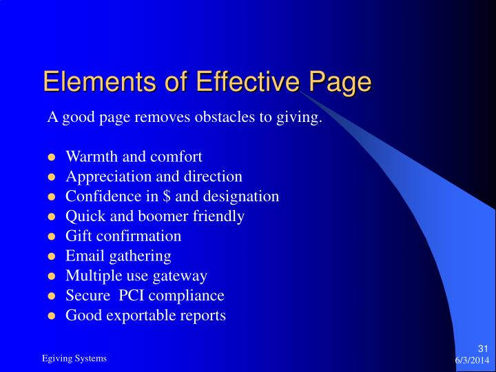 Elements of Effective Page