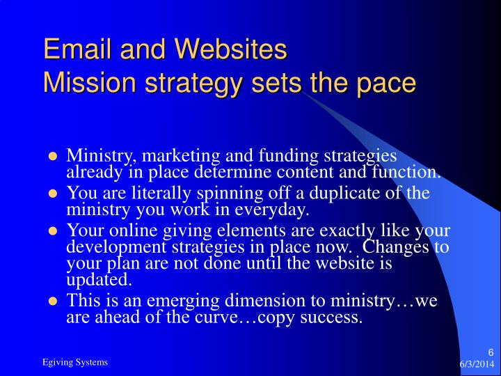 Email and Websites