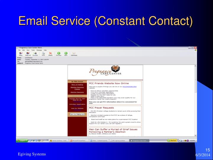 Email Service (Constant Contact)