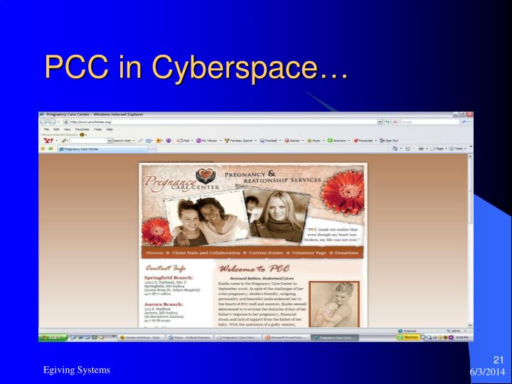 PCC in Cyberspace…