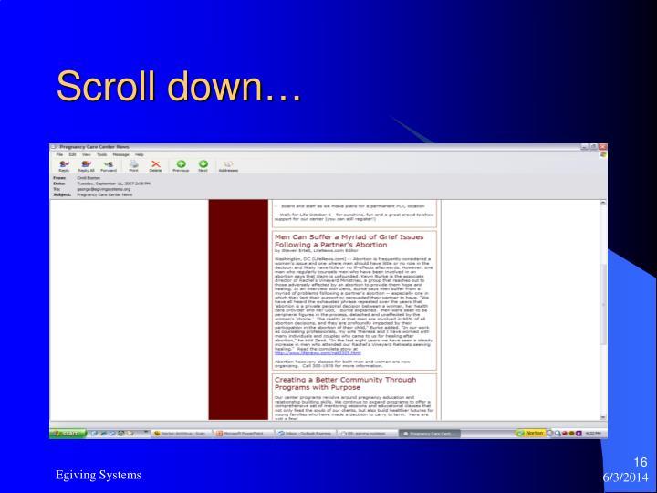 Scroll down…
