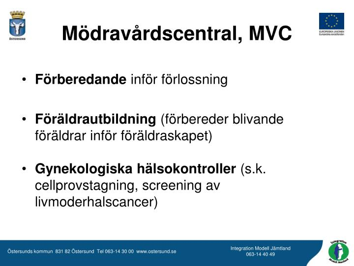 Mödravårdscentral, MVC