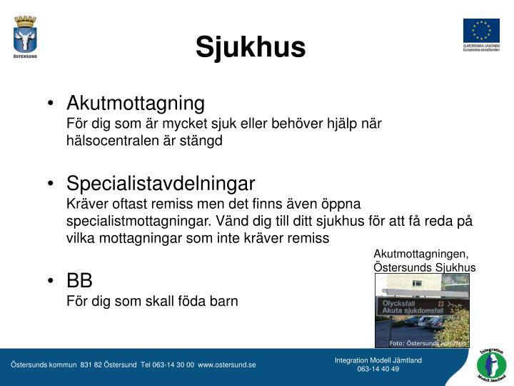 Akutmottagningen, Östersunds Sjukhus
