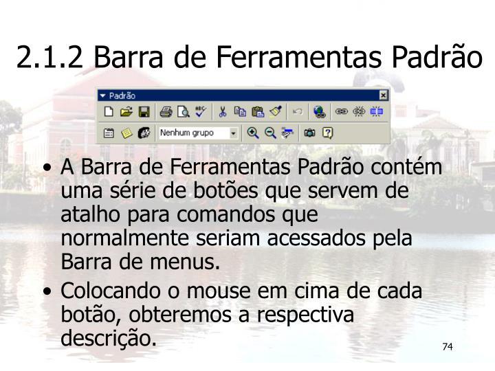 2.1.2 Barra de Ferramentas Padrão