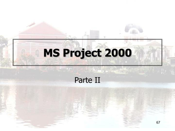 MS Project 2000