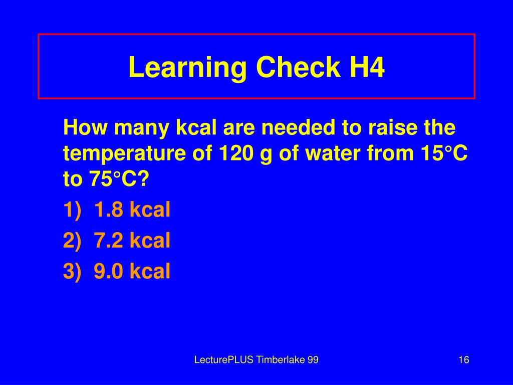 Learning Check H4