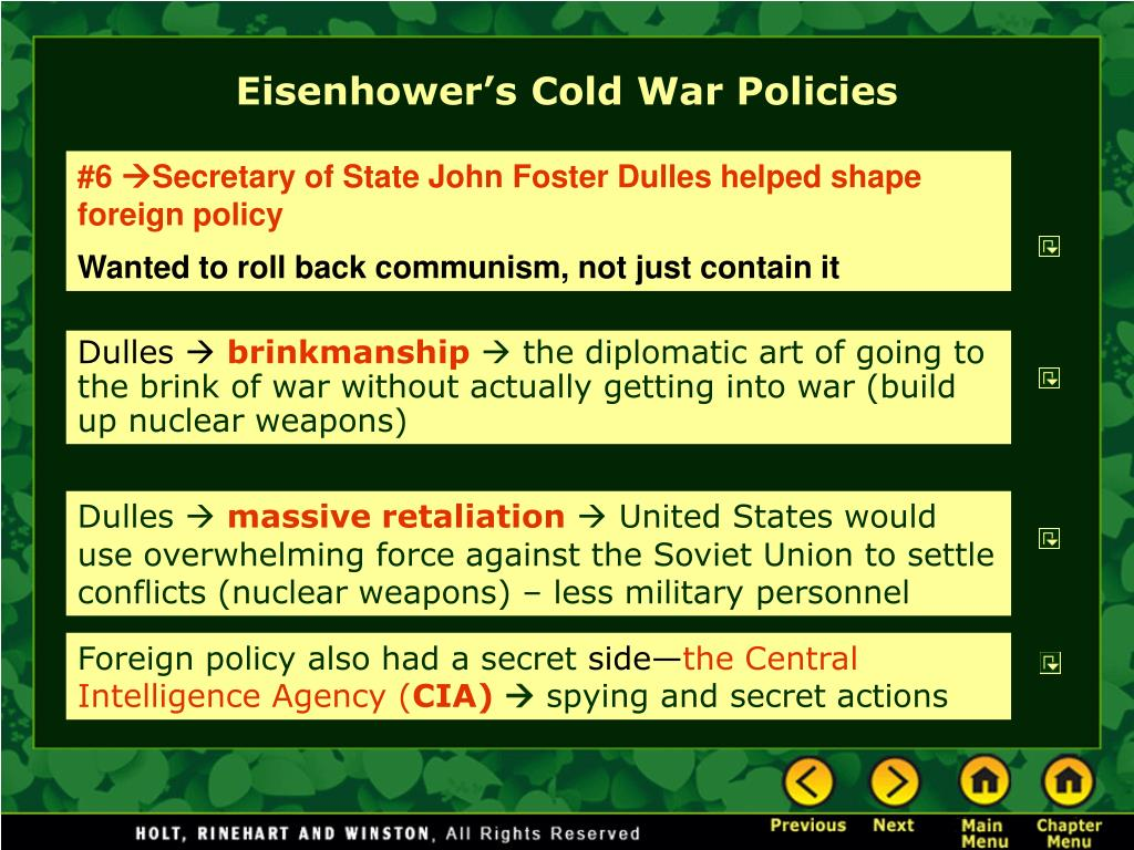 Eisenhower's Cold War Policies