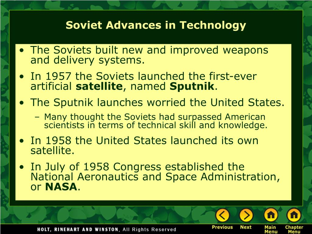 The Soviets built new and improved weapons and delivery systems.