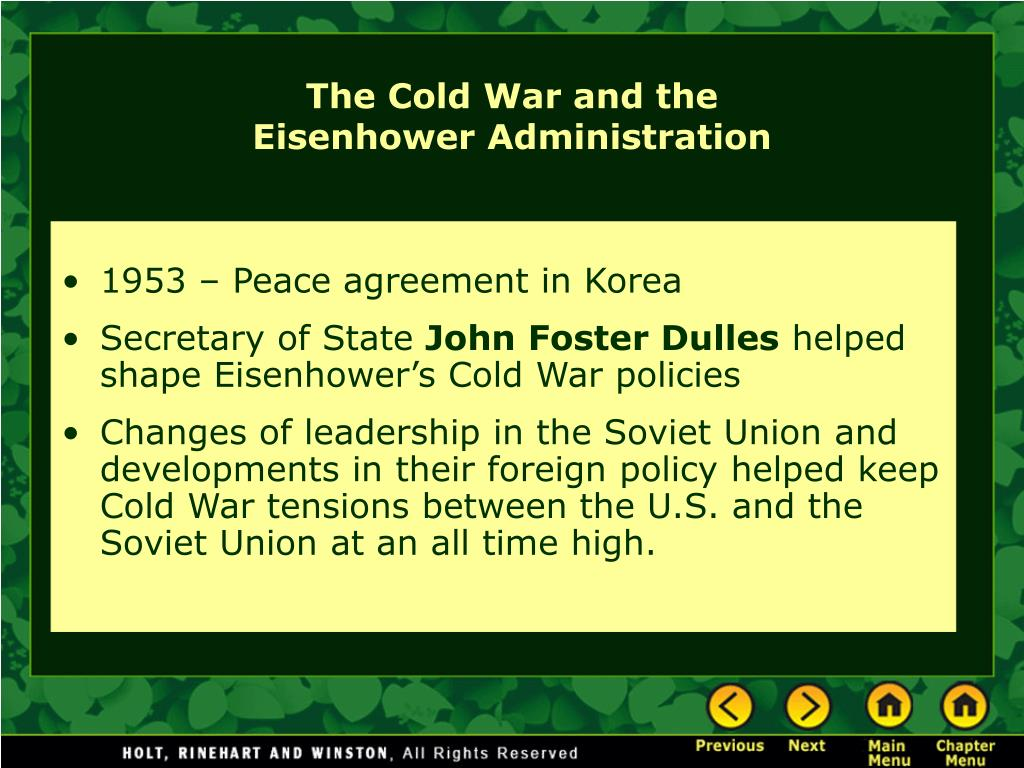 1953 – Peace agreement in Korea