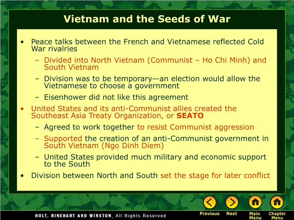 Peace talks between the French and Vietnamese reflected Cold War rivalries