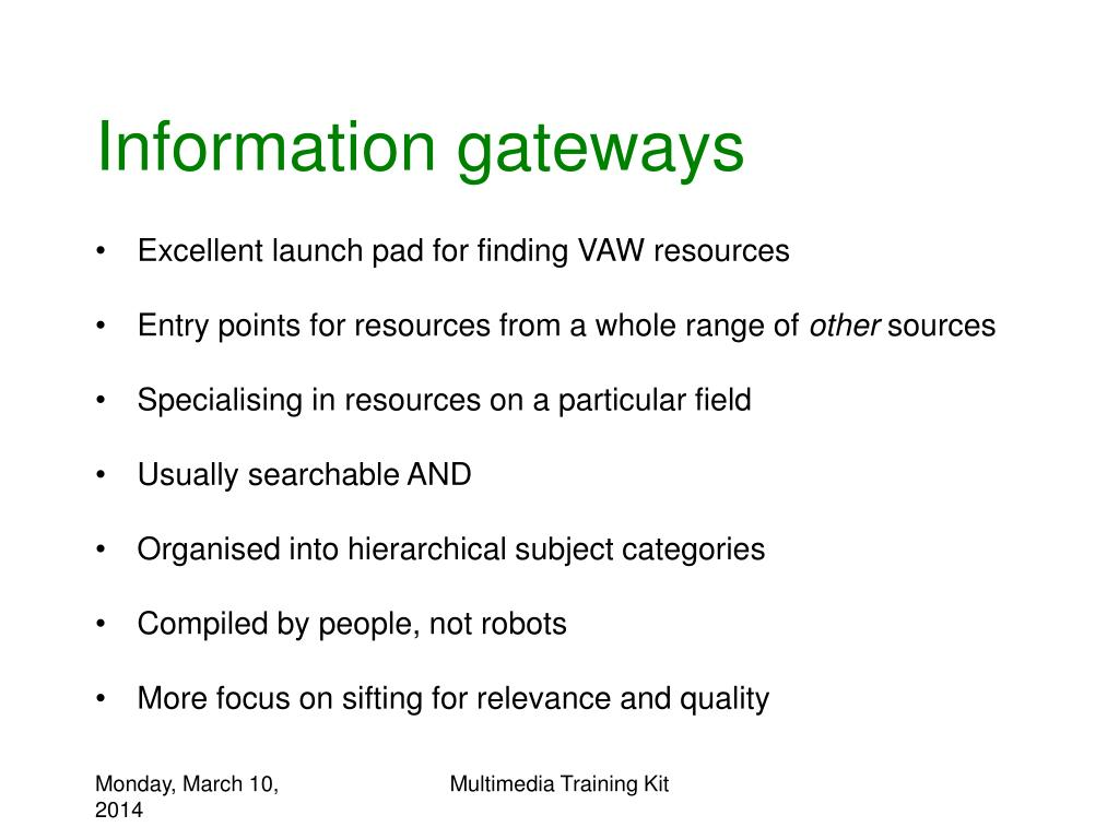 Information gateways