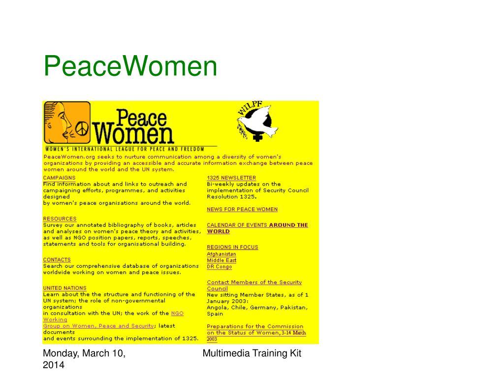 PeaceWomen