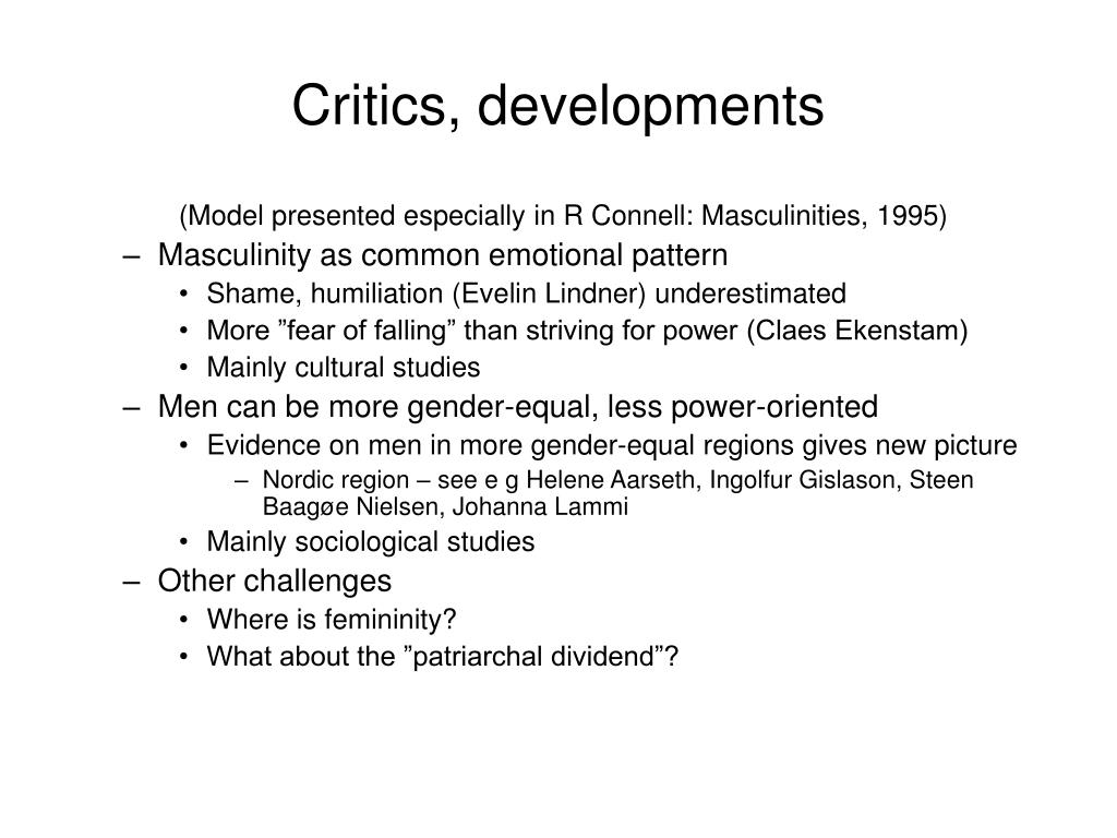 Critics, developments