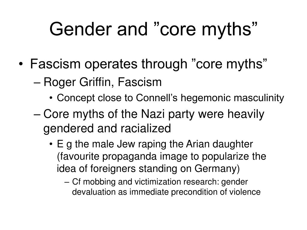 "Gender and ""core myths"""