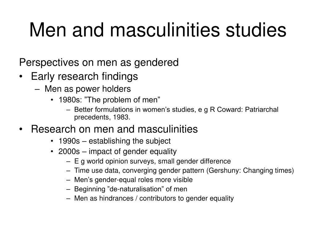 Men and masculinities studies