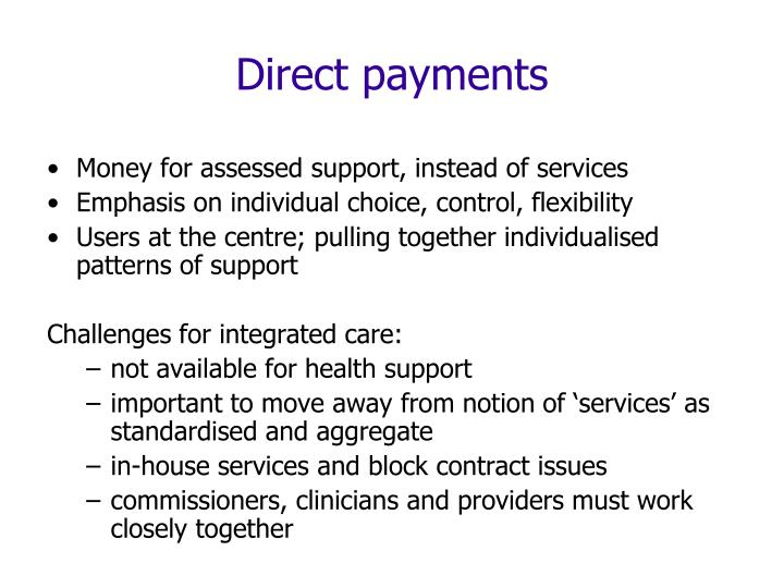 Direct payments