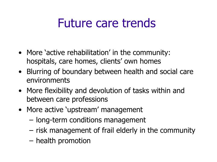 Future care trends