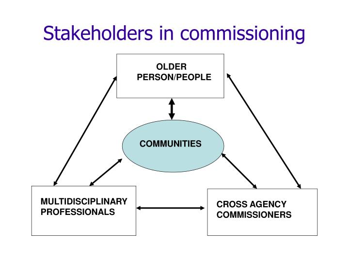 Stakeholders in commissioning