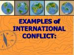 examples of international conflict