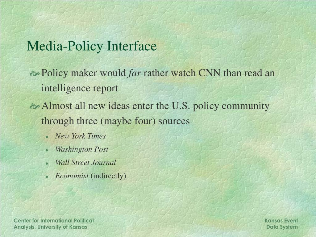 Media-Policy Interface