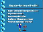 negative factors of conflict