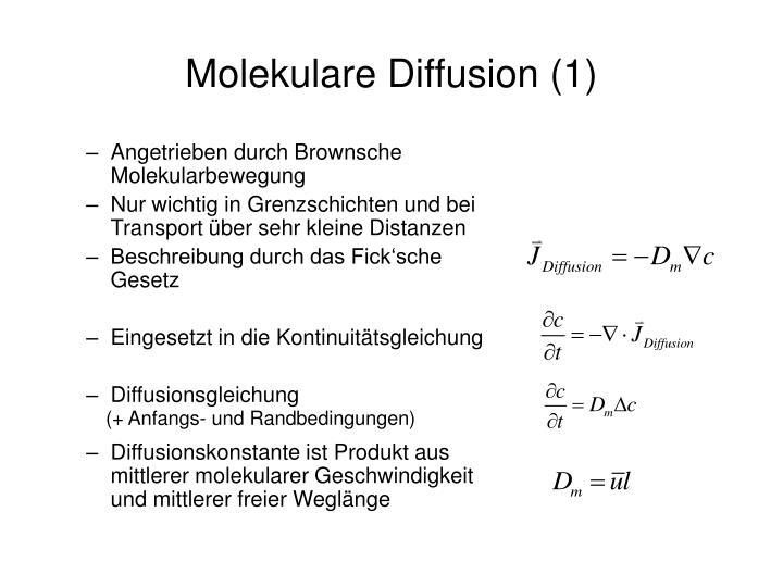 Molekulare Diffusion (1)