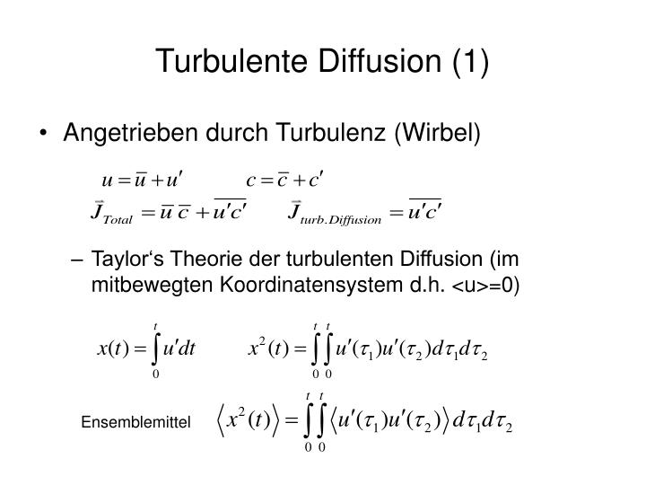 Turbulente Diffusion (1)