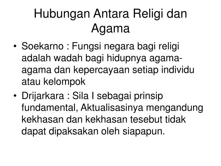 Hubungan Antara Religi dan Agama