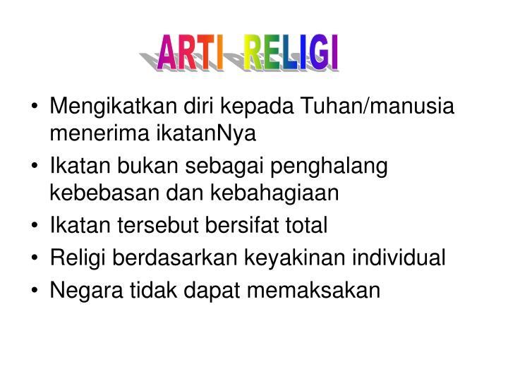 ARTI  RELIGI