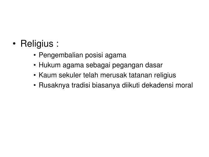 Religius :
