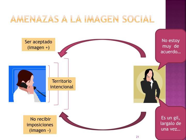 Amenazas a la IMAGEN SOCIAL