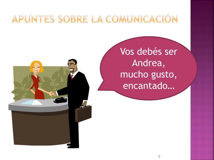 Apuntes sobre la comunicación