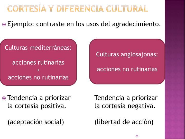 CORTESÍA Y DIFERENCIA CULTURAL