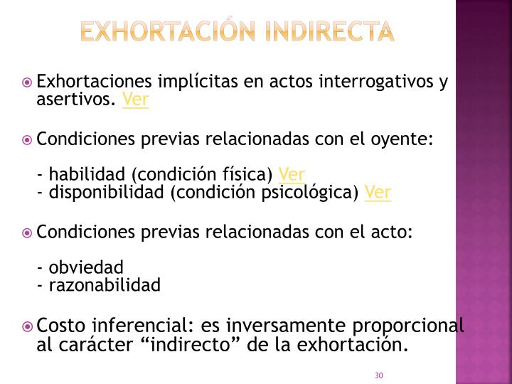 Exhortación indirecta