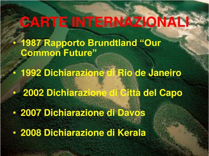 CARTE INTERNAZIONALI