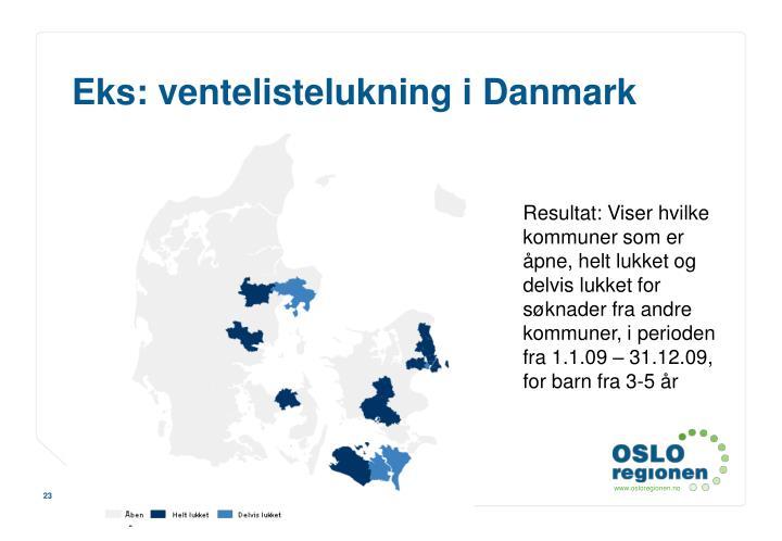 Eks: ventelistelukning i Danmark