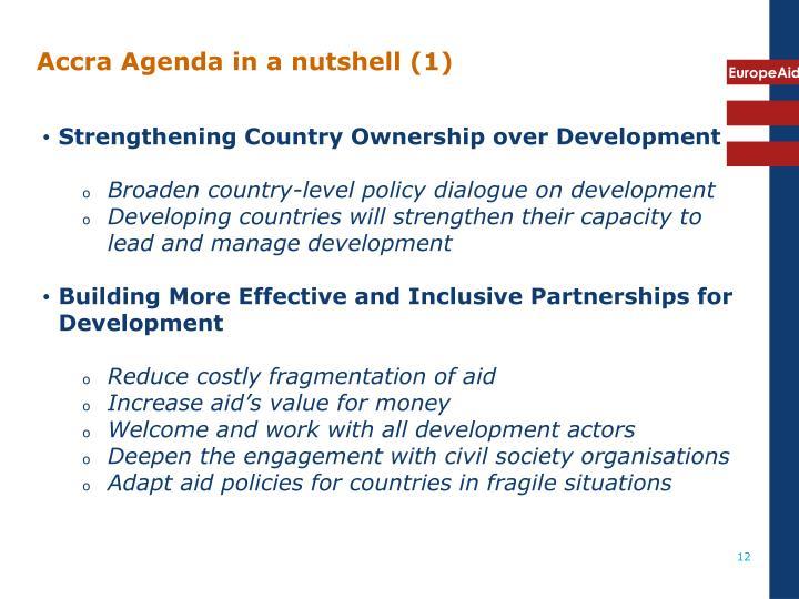 Accra Agenda in a nutshell (1)