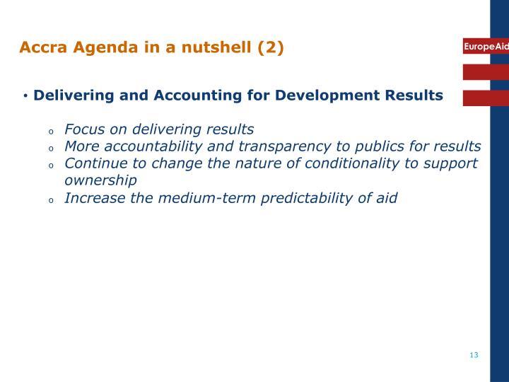 Accra Agenda in a nutshell (2)