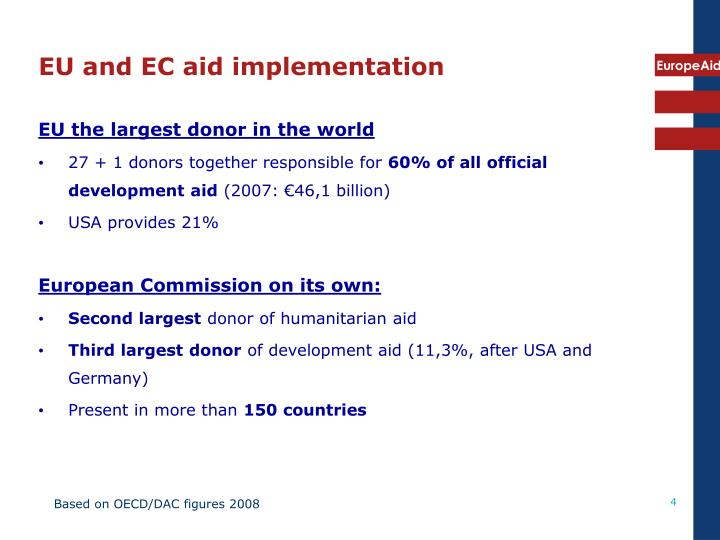 EU and EC aid implementation