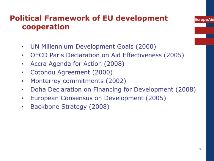 Political Framework of EU development