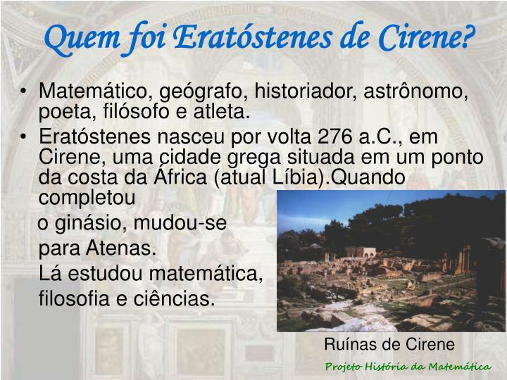 Quem foi Eratóstenes de Cirene?