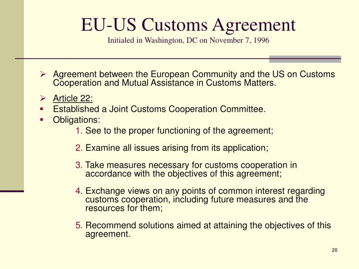 EU-US Customs Agreement